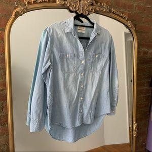 Madewell Chambray Classic Ex-Boyfriend Shirt, S
